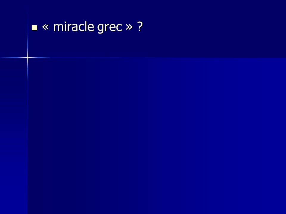 « miracle grec »