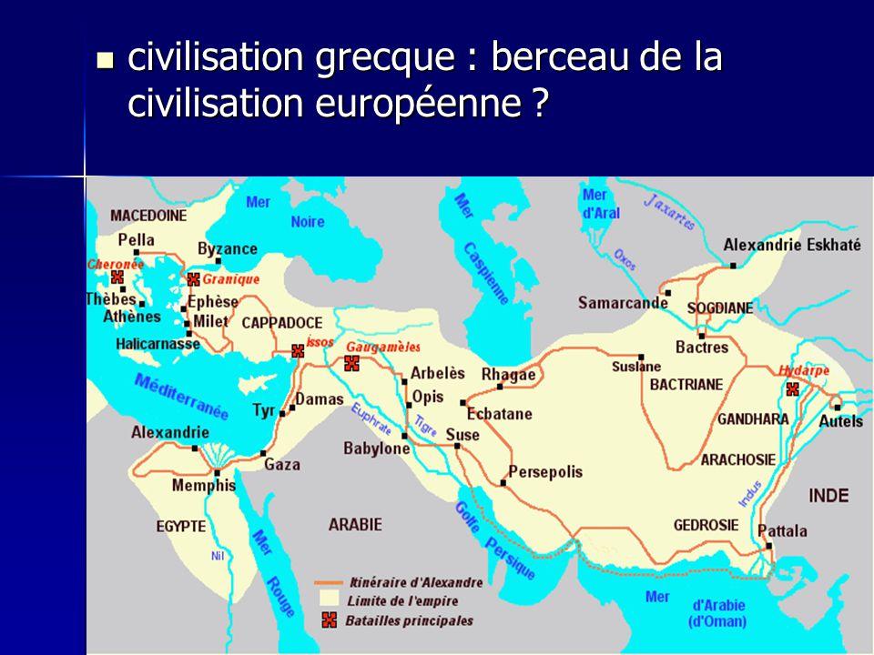 civilisation grecque : berceau de la civilisation européenne