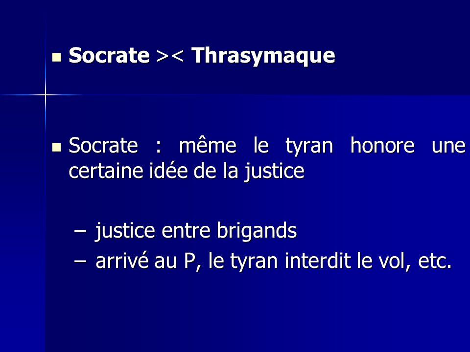 Socrate >< Thrasymaque