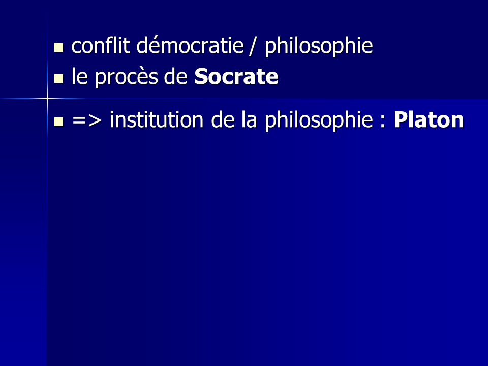 conflit démocratie / philosophie
