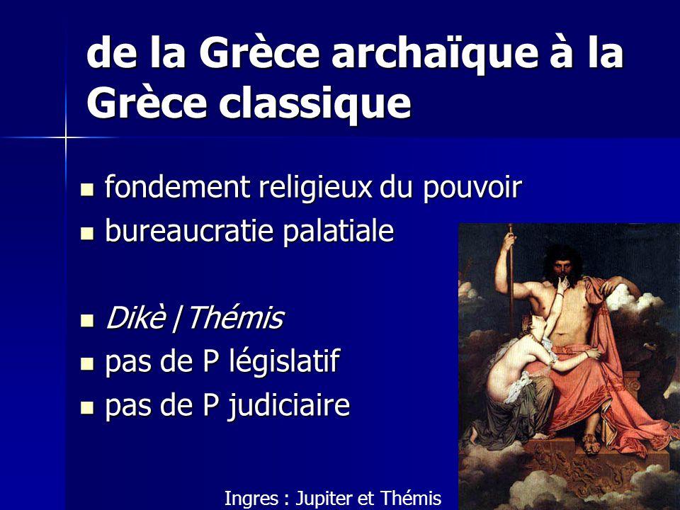 de la Grèce archaïque à la Grèce classique