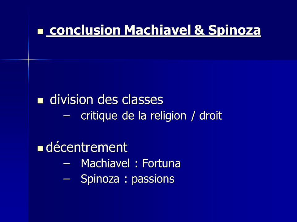 conclusion Machiavel & Spinoza