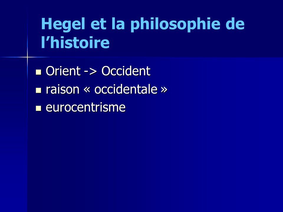 Hegel et la philosophie de l'histoire