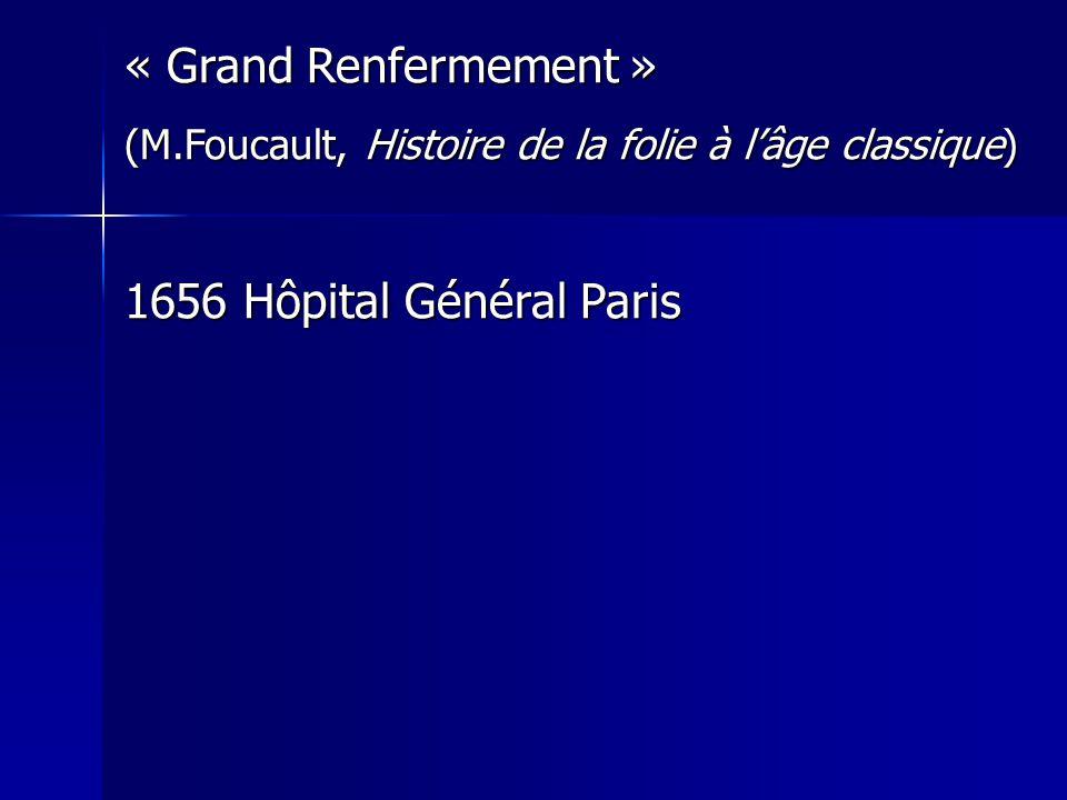 « Grand Renfermement » 1656 Hôpital Général Paris