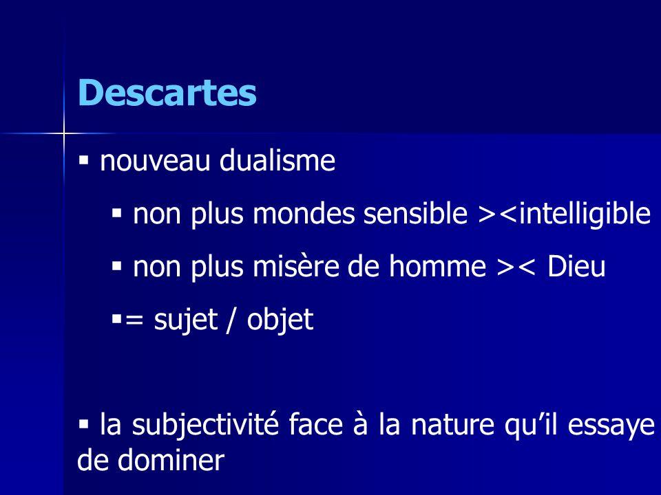 Descartes nouveau dualisme