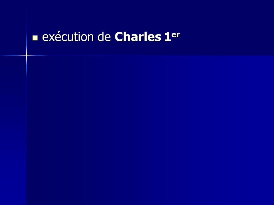 exécution de Charles 1er