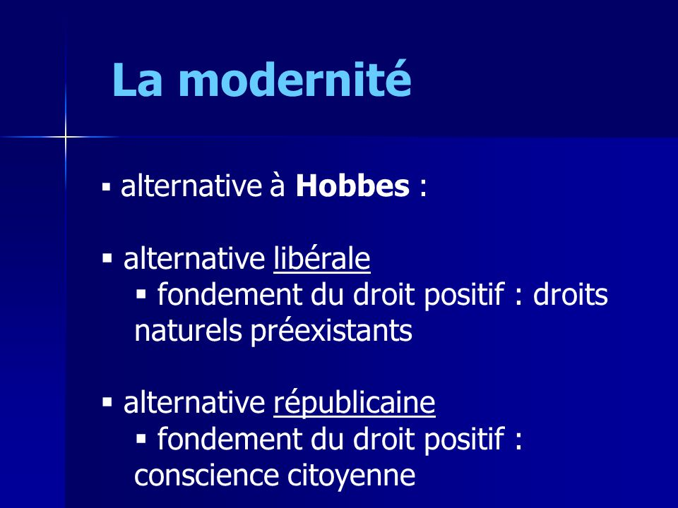 La modernité alternative libérale