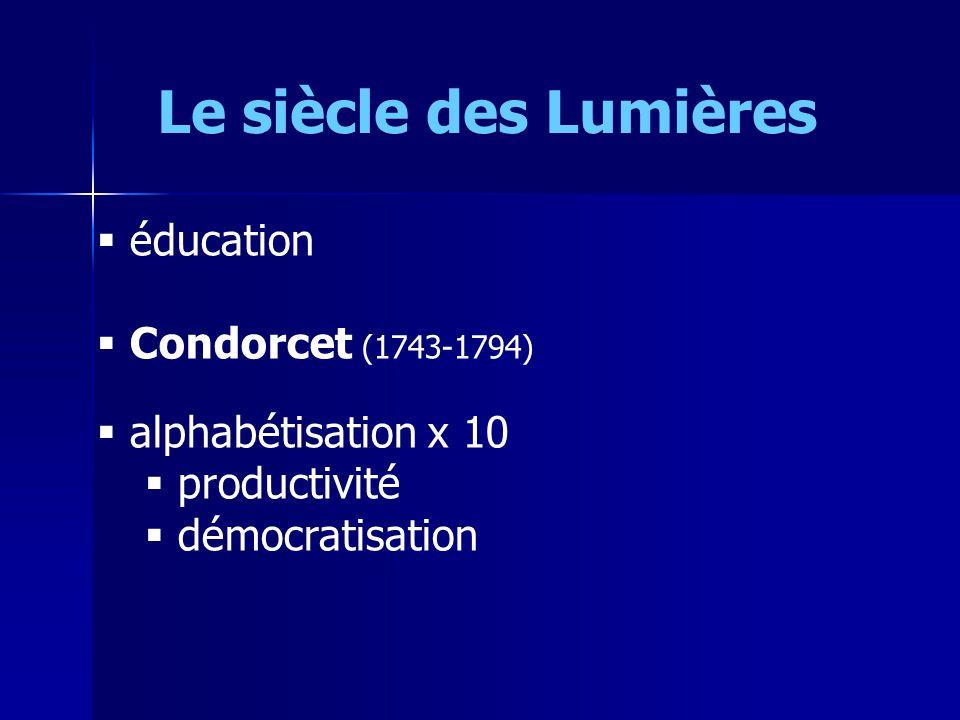 Le siècle des Lumières éducation Condorcet (1743-1794)