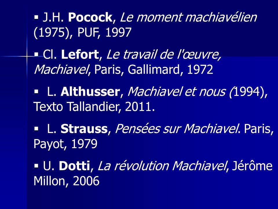 J.H. Pocock, Le moment machiavélien (1975), PUF, 1997