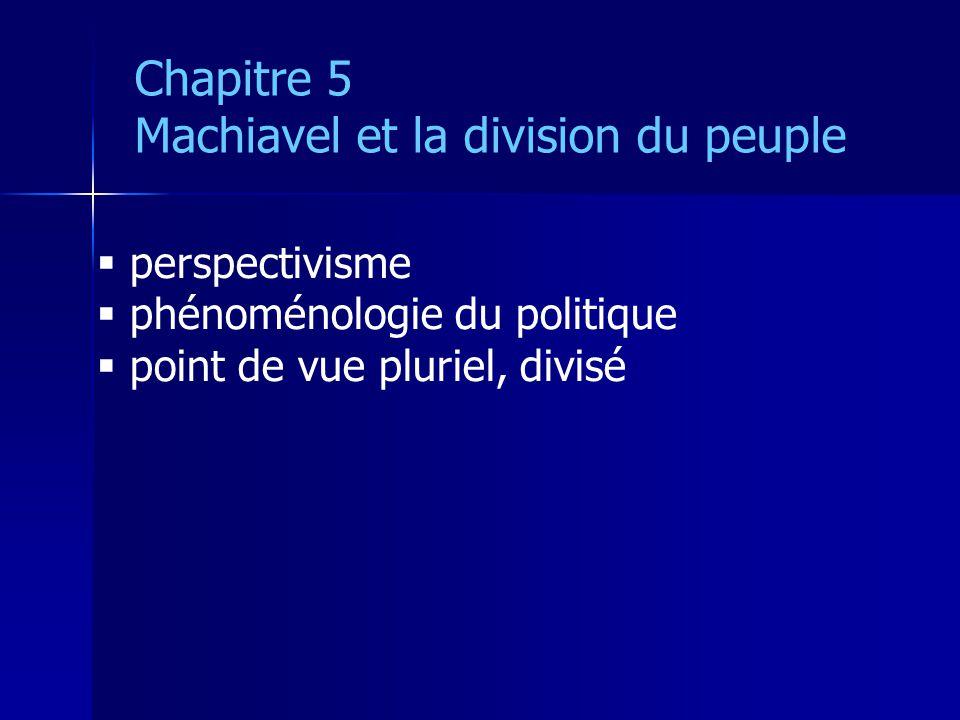 Machiavel et la division du peuple
