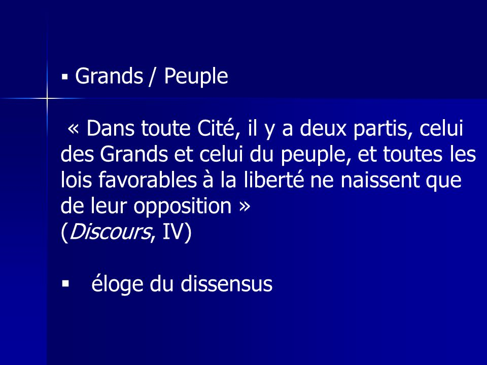 Grands / Peuple