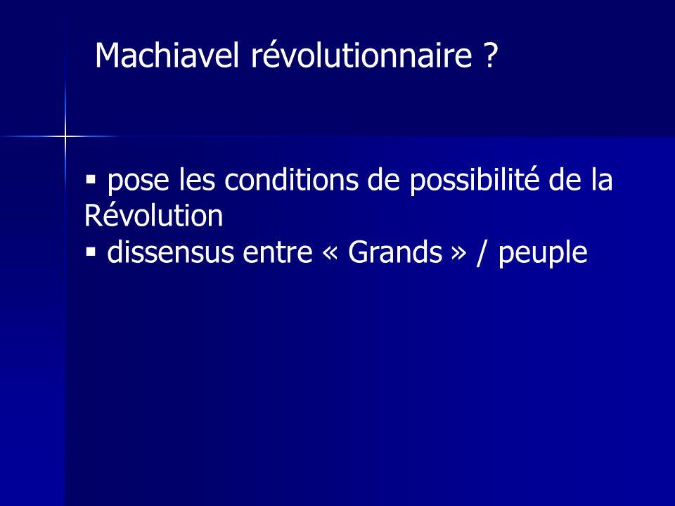 Machiavel révolutionnaire