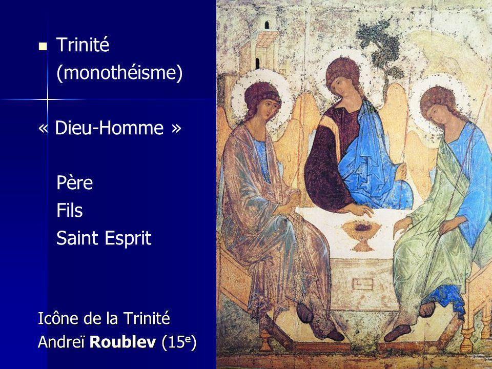 Trinité (monothéisme) « Dieu-Homme » Père Fils Saint Esprit