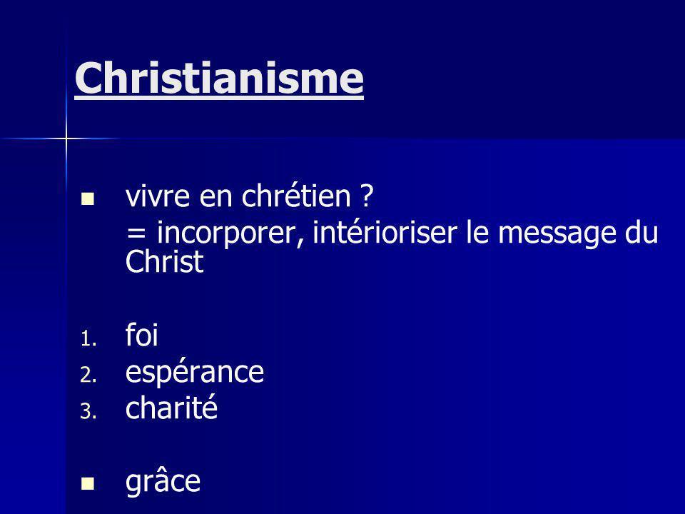 Christianisme vivre en chrétien