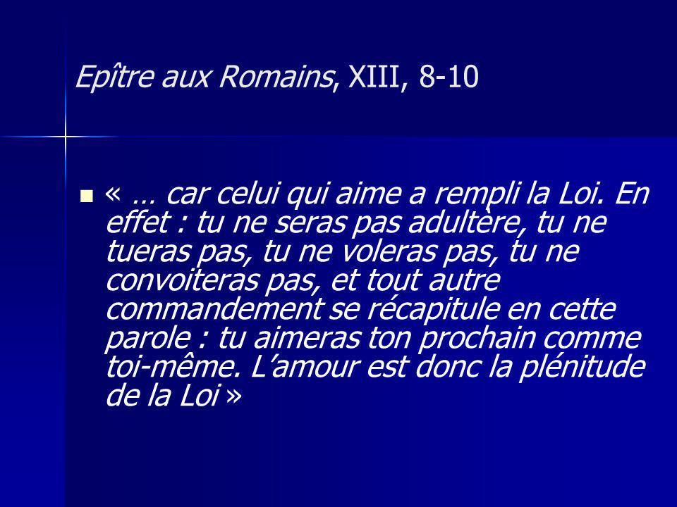 Epître aux Romains, XIII, 8-10