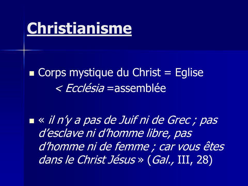 Christianisme Corps mystique du Christ = Eglise