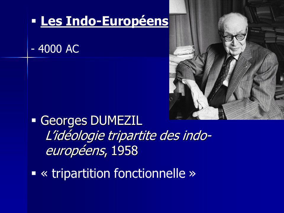 L'idéologie tripartite des indo-européens, 1958