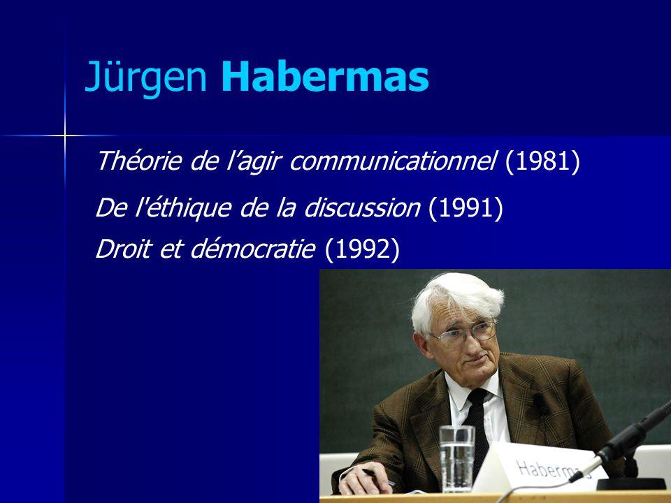 Jürgen Habermas Théorie de l'agir communicationnel (1981)