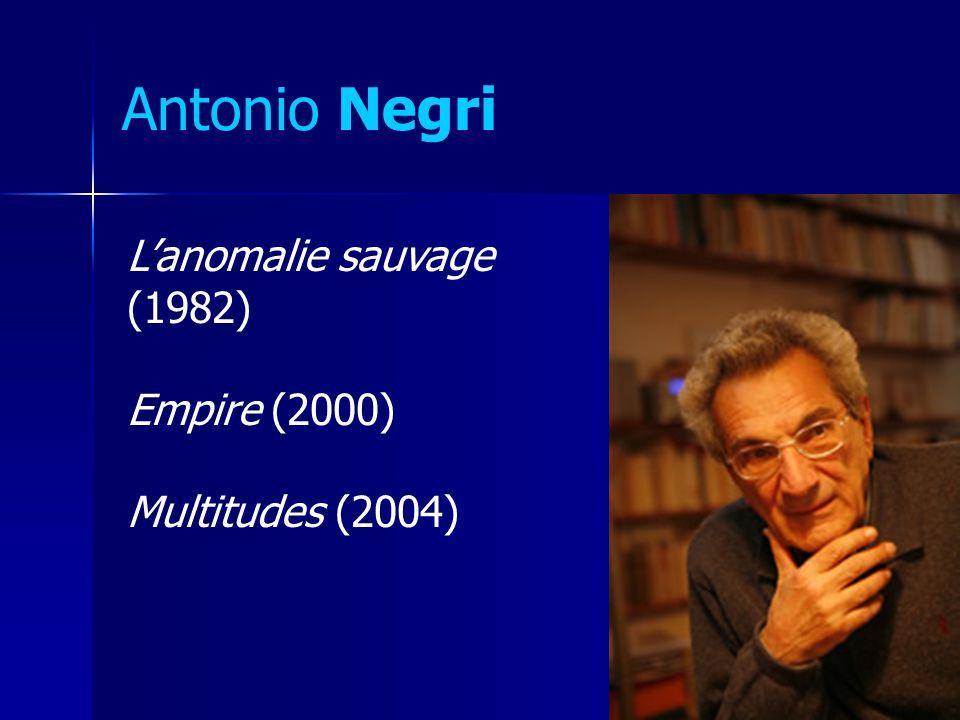 Antonio Negri L'anomalie sauvage (1982) Empire (2000)