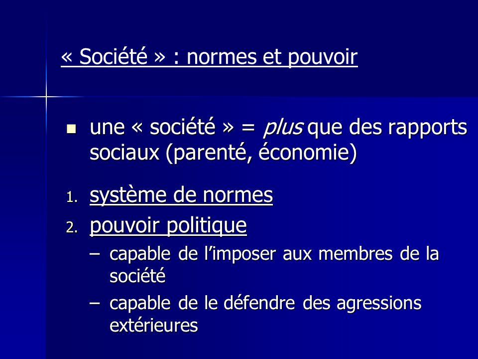 « Société » : normes et pouvoir