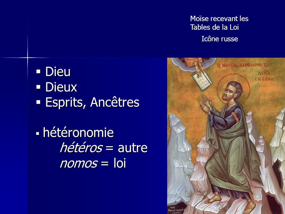 Dieu Dieux Esprits, Ancêtres hétéros = autre nomos = loi hétéronomie