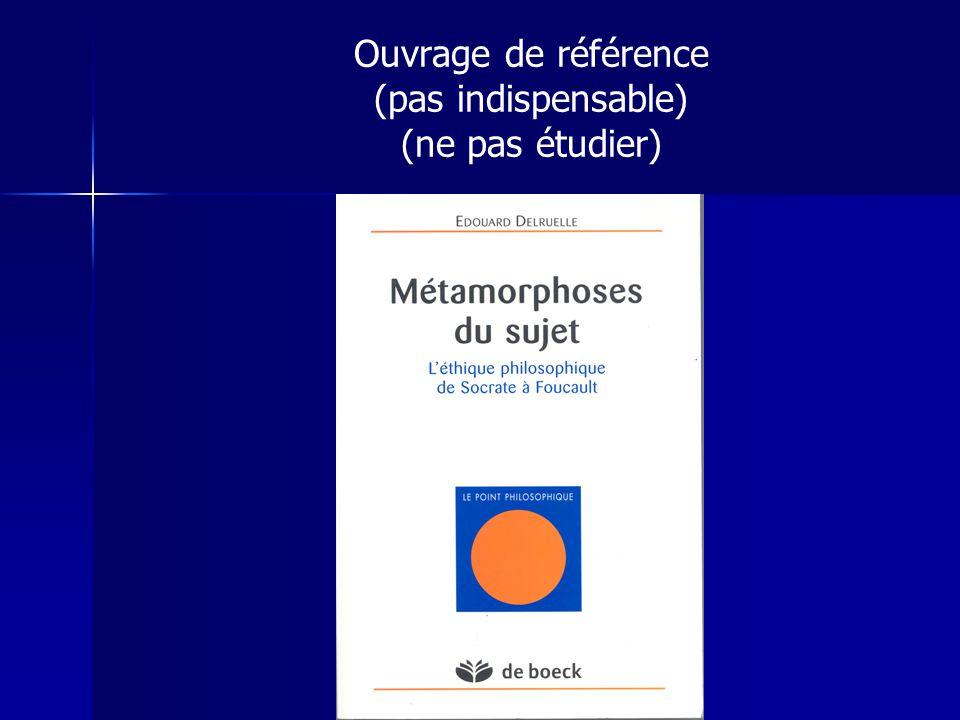 Ouvrage de référence (pas indispensable) (ne pas étudier)