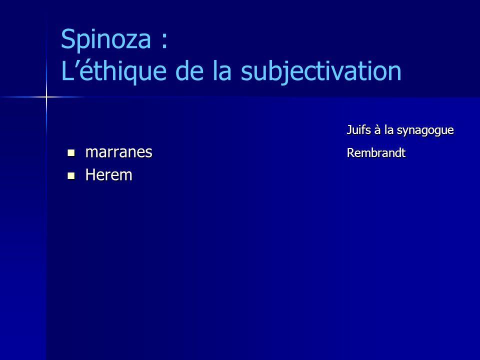 Spinoza : L'éthique de la subjectivation