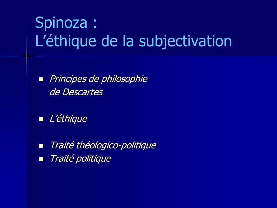 descartes vs spinoza on substance essay Spinoza also follows descartes in thinking that i) attributes are the principle properties of substance, ii) among those attributes are thought and extension, iii) all other properties of a substance are referred through, or are ways of being, that attribute, and iv) god exists and is a substance.