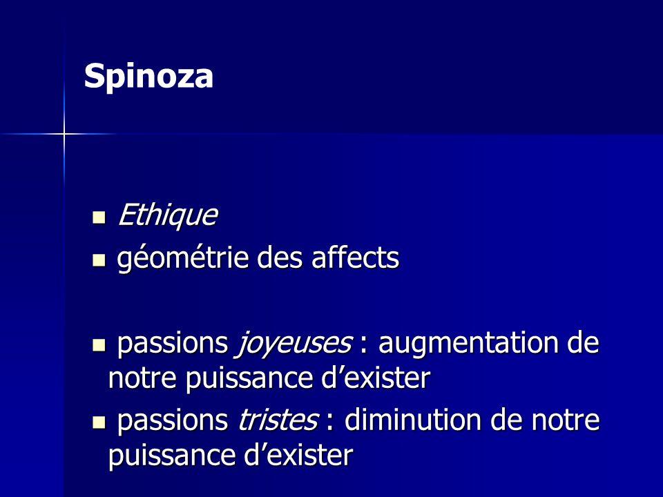 Spinoza Ethique géométrie des affects