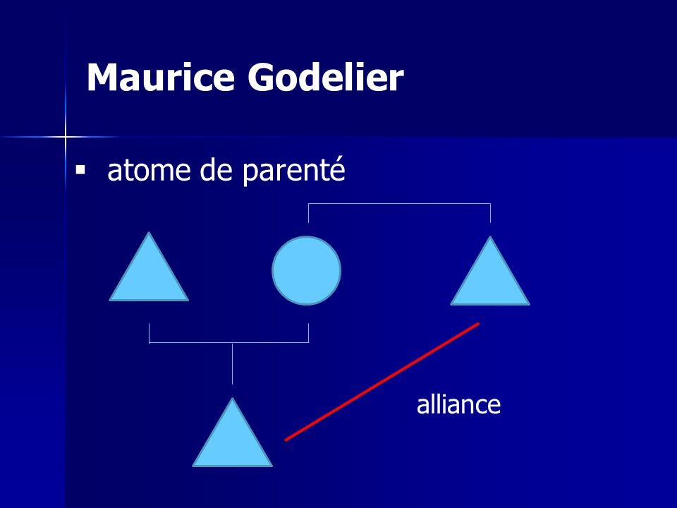 Maurice Godelier atome de parenté alliance
