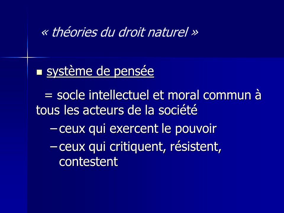 « théories du droit naturel »