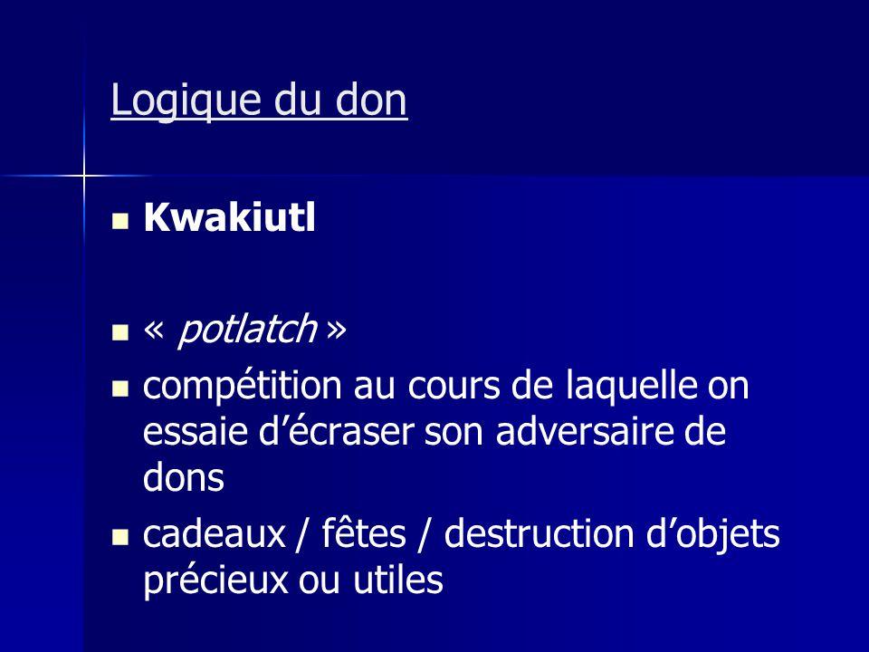Logique du don Kwakiutl « potlatch »