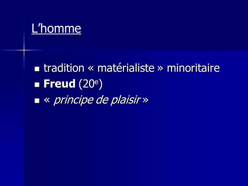 L'homme tradition « matérialiste » minoritaire Freud (20e)
