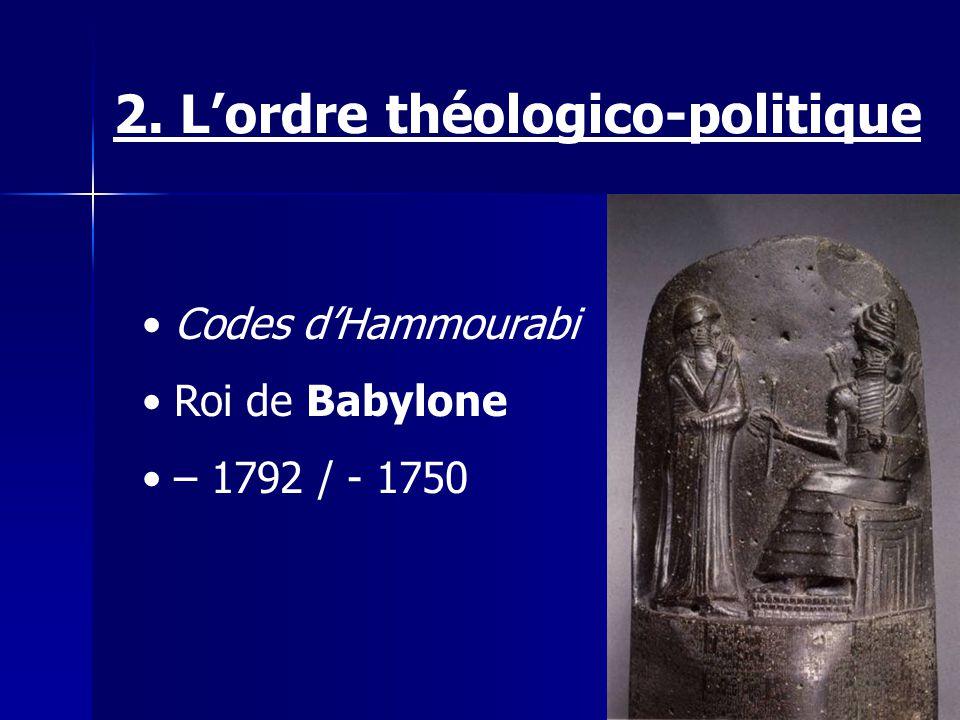 2. L'ordre théologico-politique