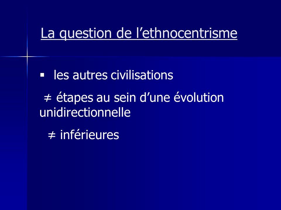 La question de l'ethnocentrisme