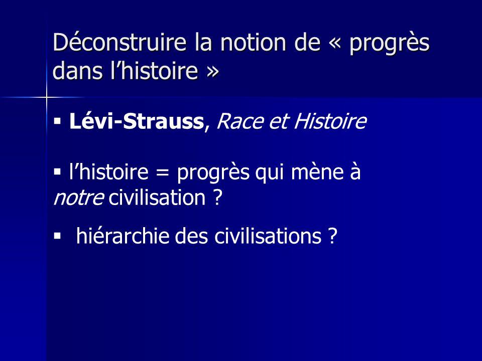 Déconstruire la notion de « progrès dans l'histoire »