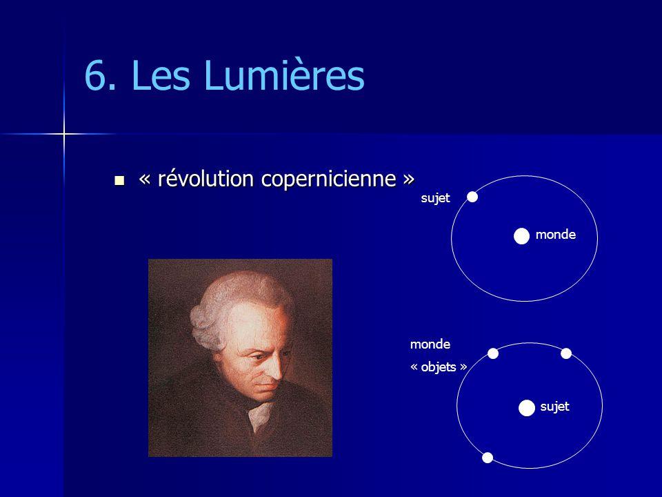 6. Les Lumières « révolution copernicienne » sujet monde monde