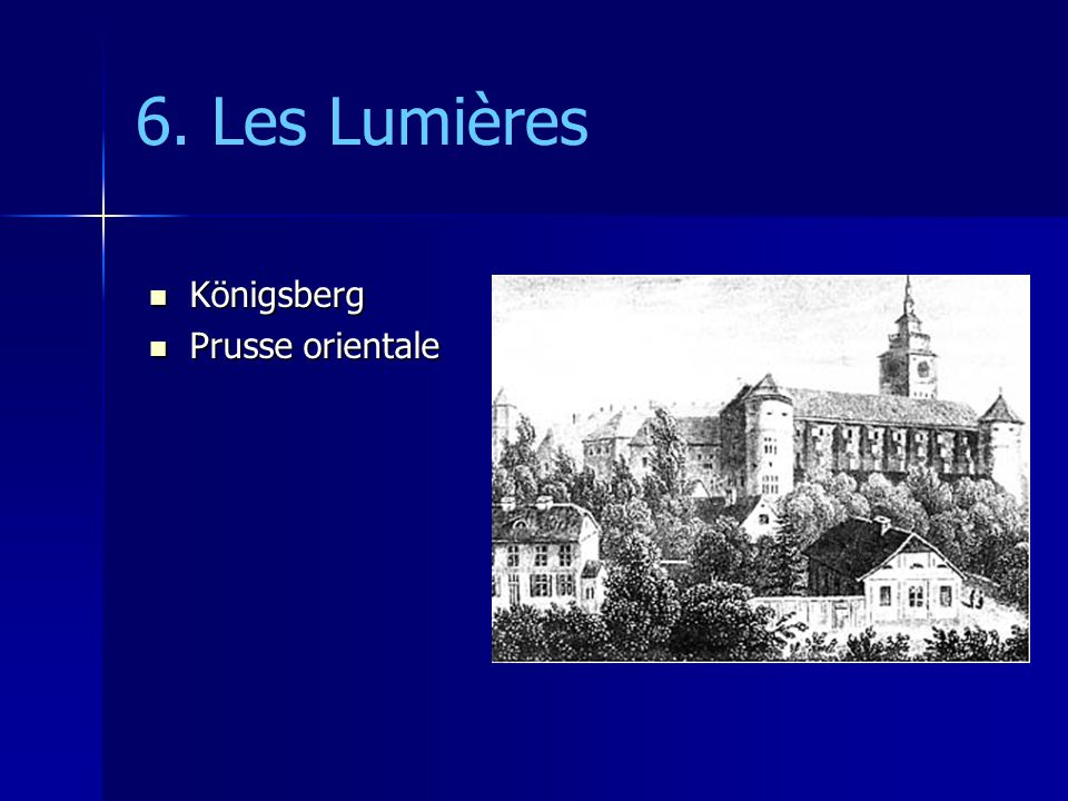 6. Les Lumières Königsberg Prusse orientale