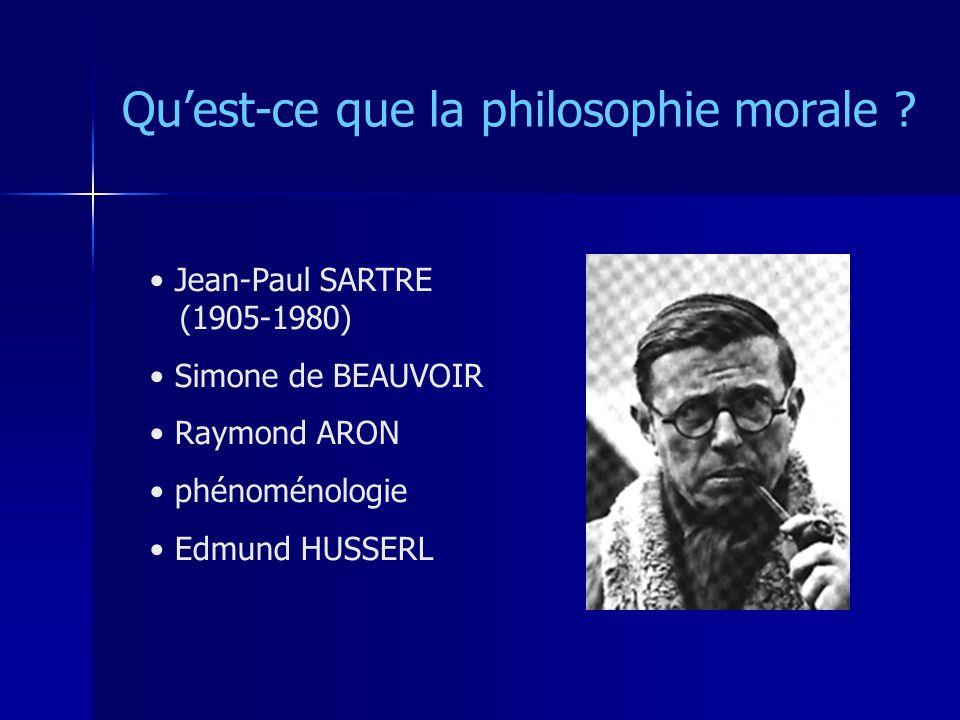 Qu'est-ce que la philosophie morale