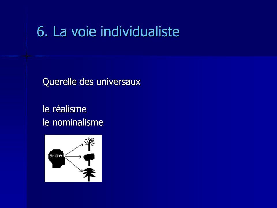 6. La voie individualiste