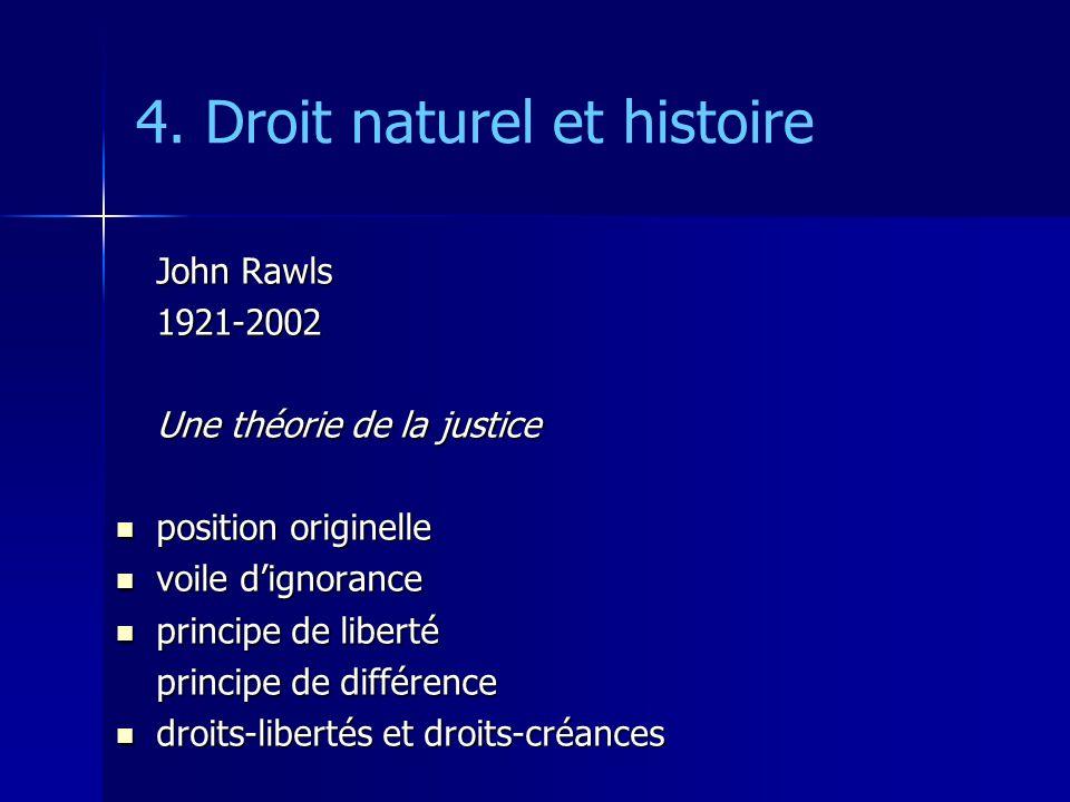 4. Droit naturel et histoire