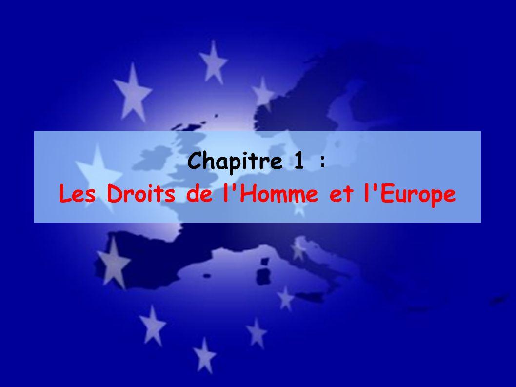 Les Droits de l Homme et l Europe