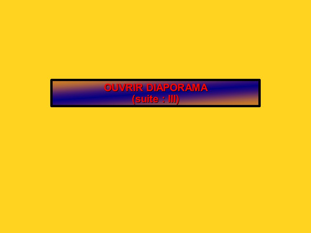 OUVRIR DIAPORAMA (suite : III)
