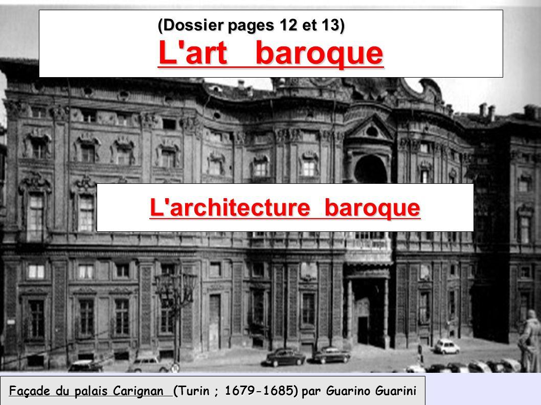 Façade du palais Carignan (Turin ; 1679-1685) par Guarino Guarini