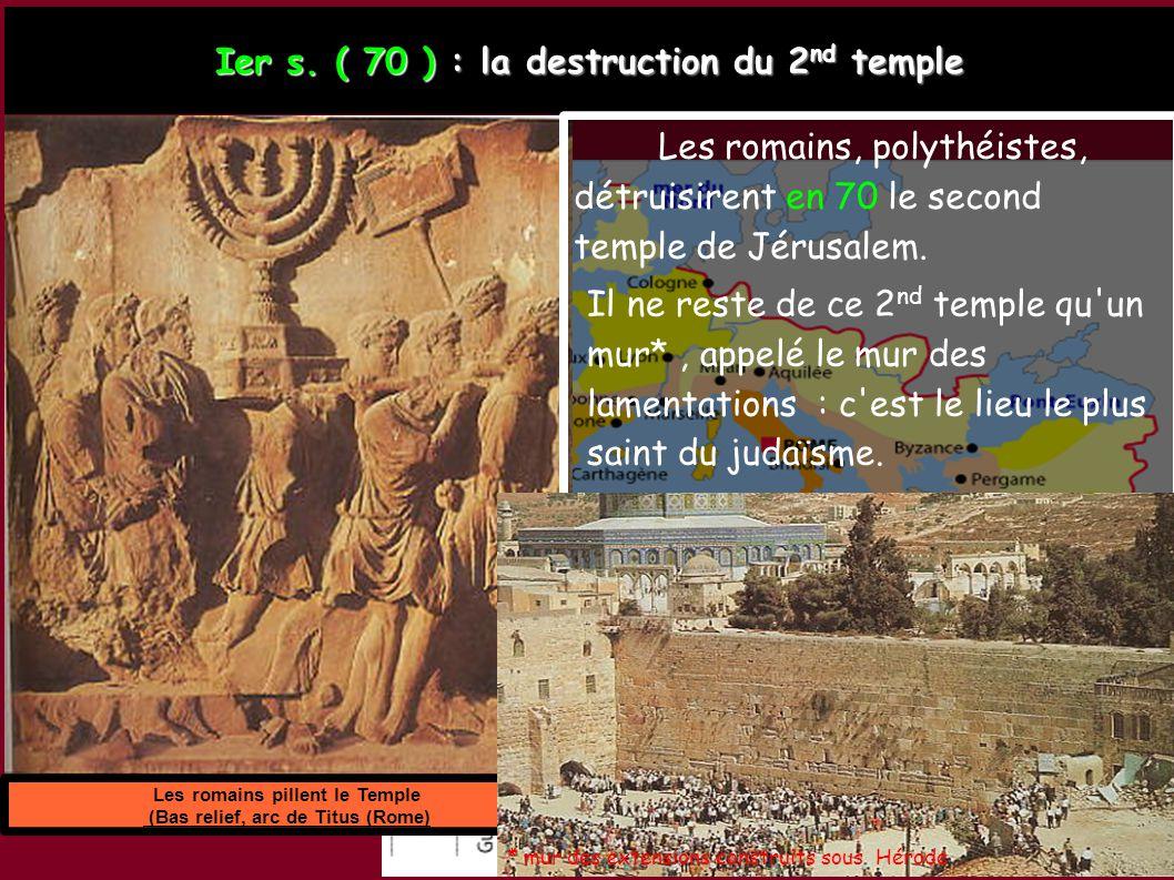Les romains pillent le Temple