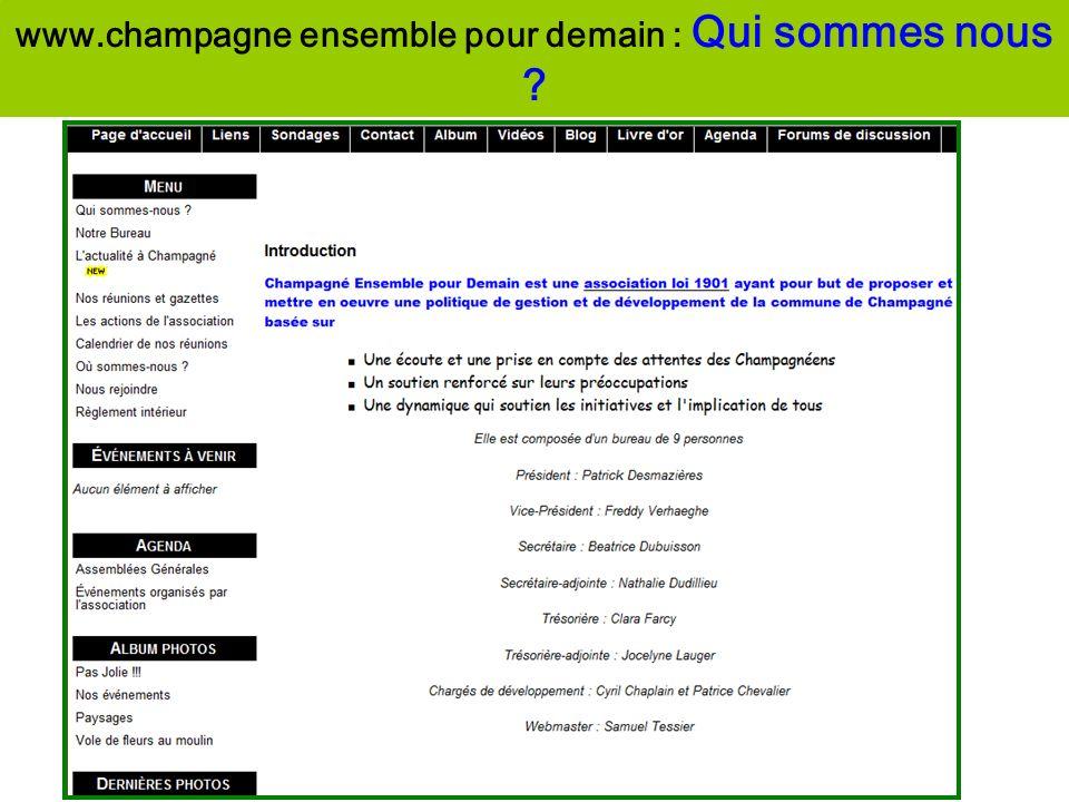 www.champagne ensemble pour demain : Qui sommes nous