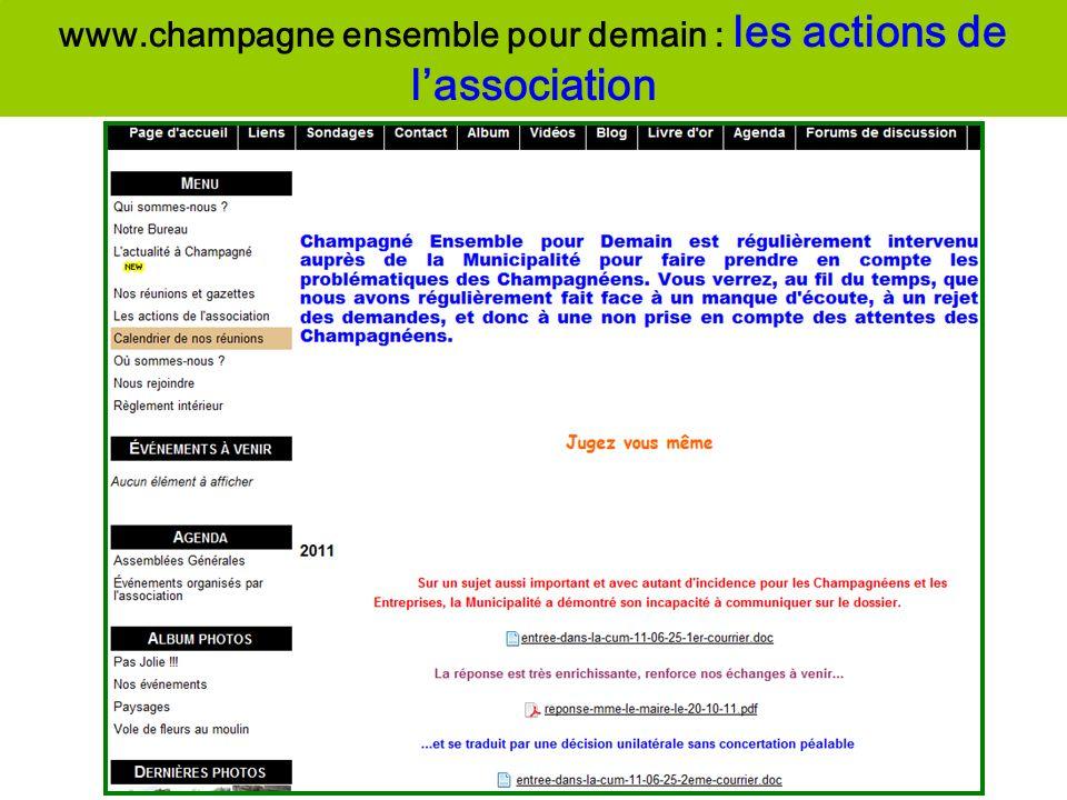 www.champagne ensemble pour demain : les actions de l'association
