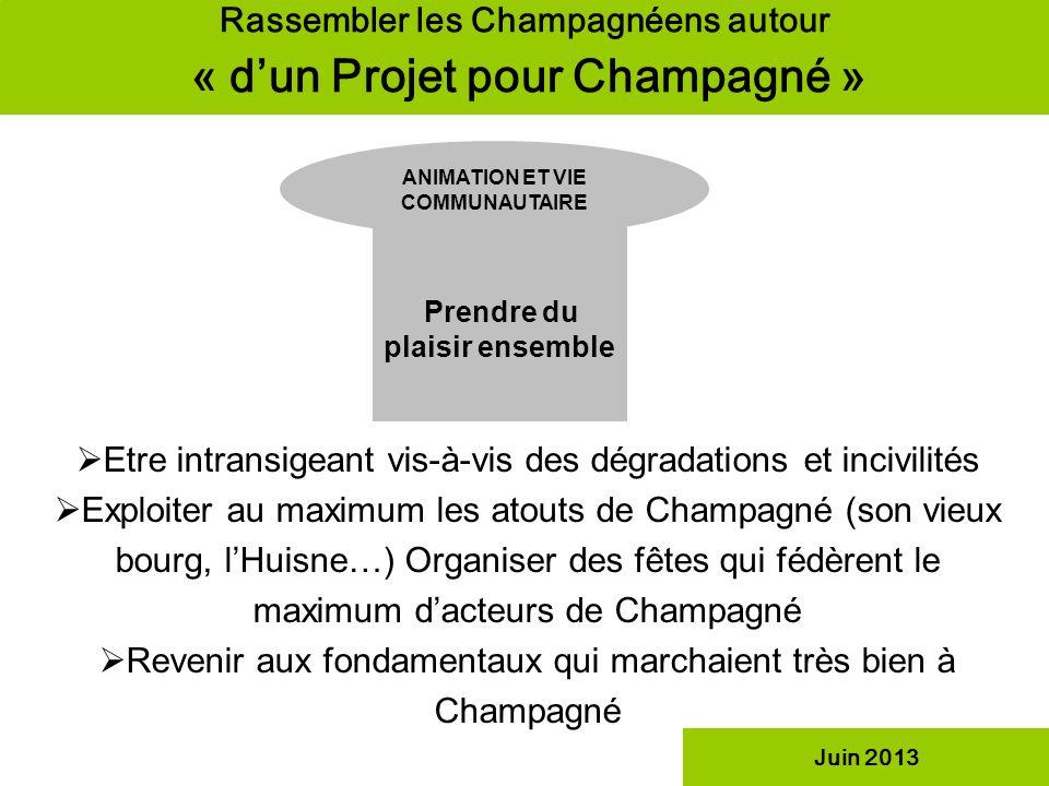 Rassembler les Champagnéens autour « d'un Projet pour Champagné »