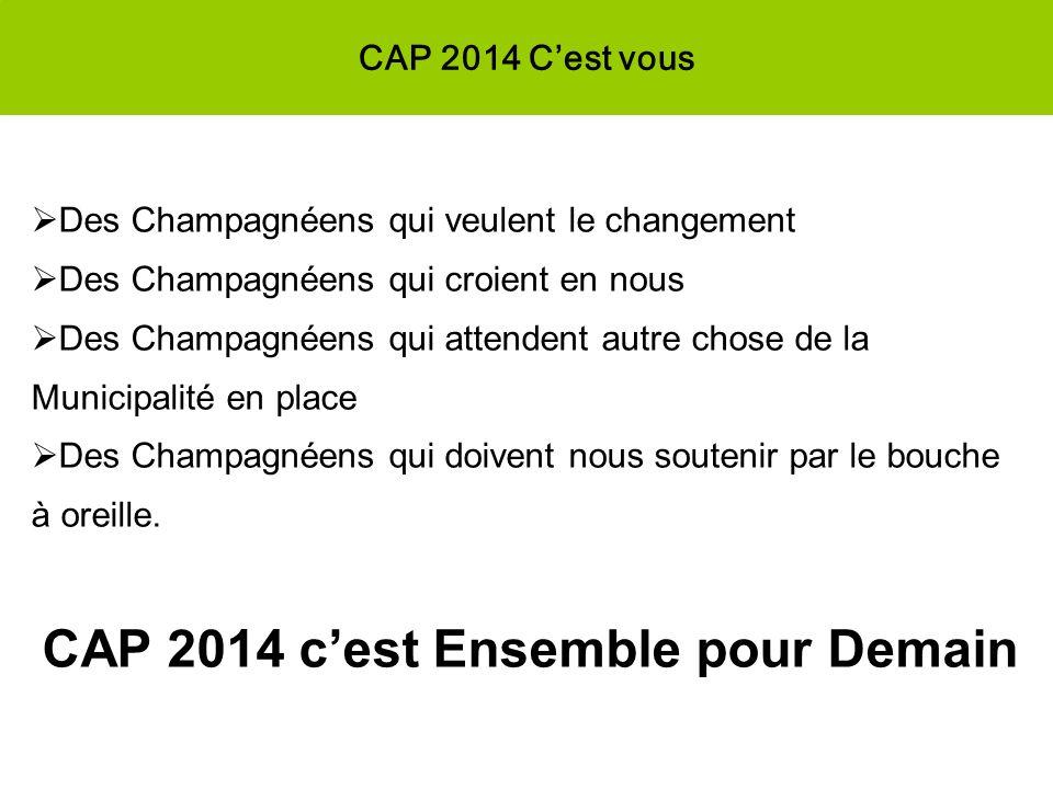 CAP 2014 c'est Ensemble pour Demain