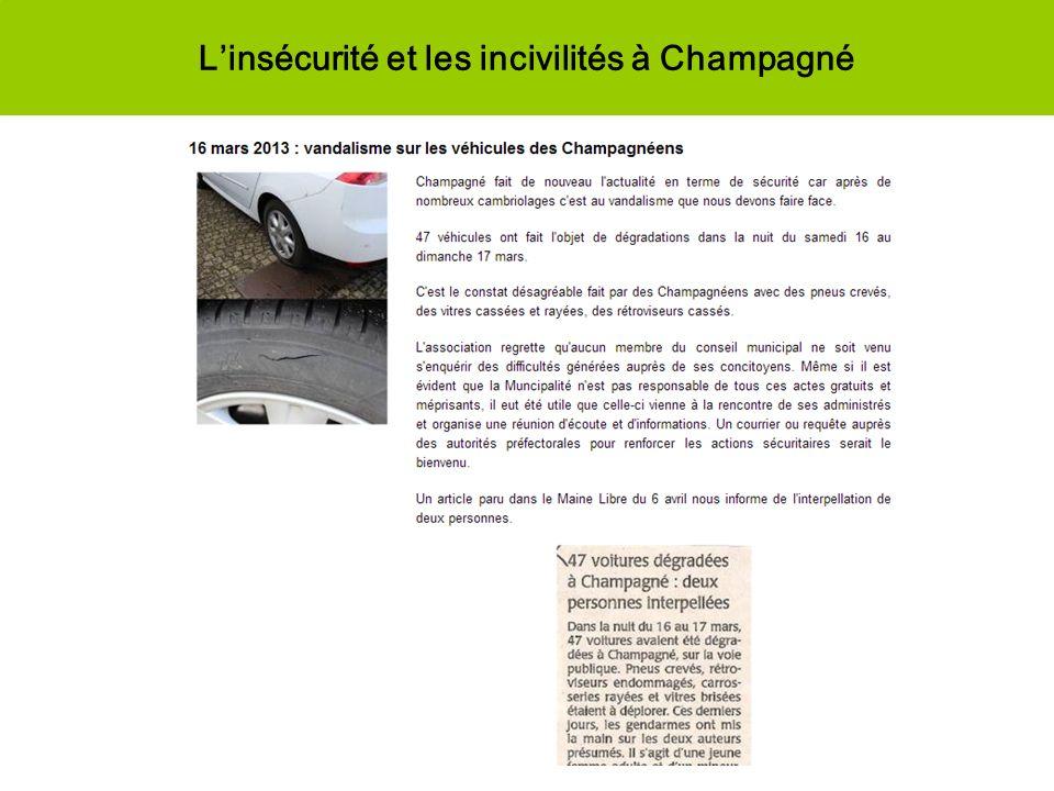 L'insécurité et les incivilités à Champagné
